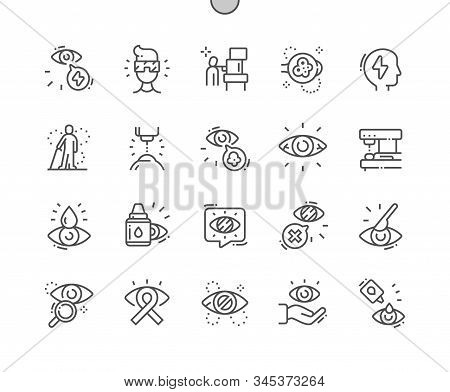 Glaucoma Well-crafted Pixel Perfect Vector Thin Line Icons 30 2x Grid For Web Graphics And Apps. Sim