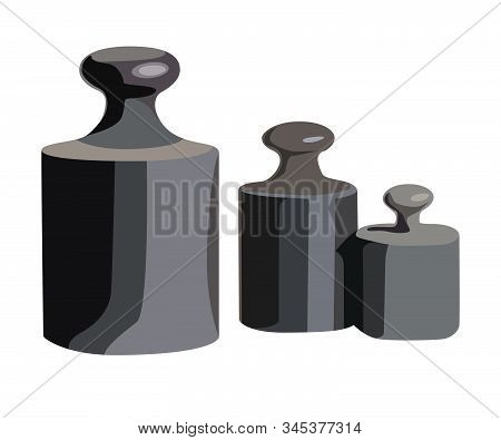 Calibration Weight Realistic Vector Illustration Isolated No Background