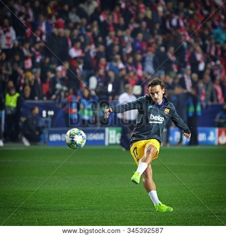 Prague, Czechia - October 23, 2019: Antoine Griezmann Of Barcelona In Action During Training Session