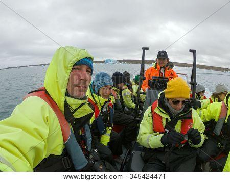Boat Trip In Jokulsarlon Lagoon, Iceland
