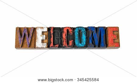 Welcome. Event, Celebration, Party And Hospitality. Abstract Background