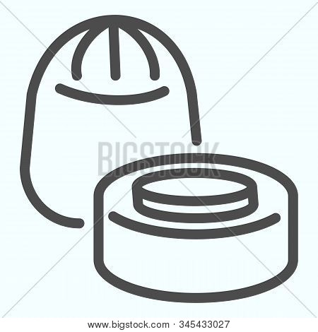 Chocolate Candies Line Icon. Chocolates Vector Illustration Isolated On White. Two Chocolate Candies