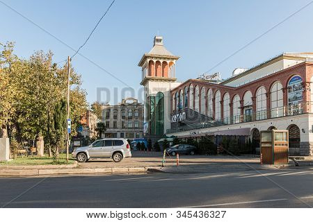 Kutaisi, Georgia, October 13, 2019 : Shopping Center In The Old Part Of Kutaisi At The Intersection