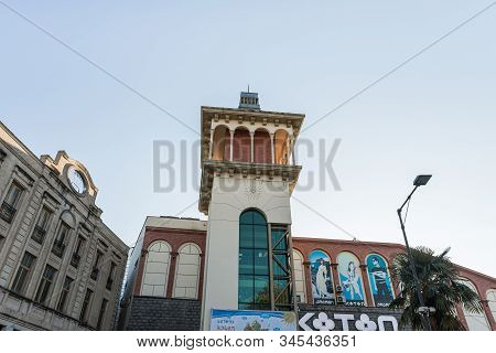 Kutaisi, Georgia, October 13, 2019 : Tower Of A Shopping Center In The Old Part Of Kutaisi At The In