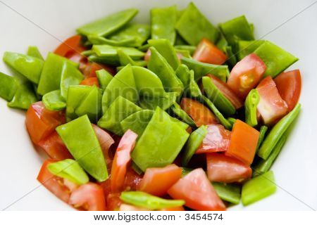 Sugar Snaps And Tomatoes