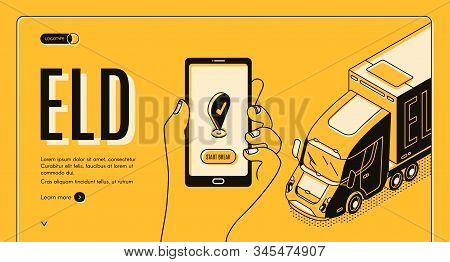 Eld Electronic Logging Device Isometric Landing Page, Hardware Attached To Commercial Motor Vehicle