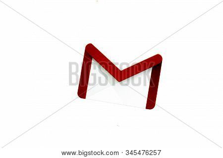 Los Angeles, California, Usa - 17 January 2020: Google Gmail Icon With Copy Space, Illustrative Edit