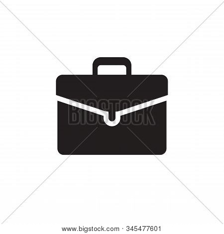 Portfolio Black Icon Design. Briefcase Portfolio Concept Vector Icon Sign, Business Bag Icon Symbol.