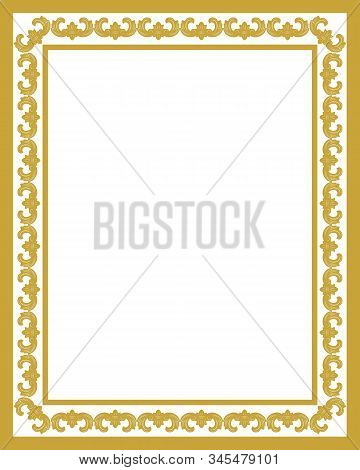 Golden Ornament Pattern Frame, Border Ornament Pattern Frame, Engraving Ornament Pattern Frame, Orna