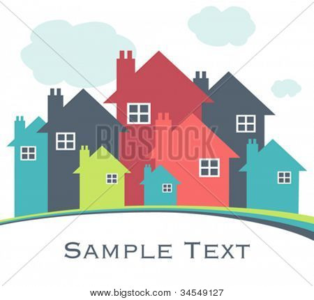 House or real estate illustration.
