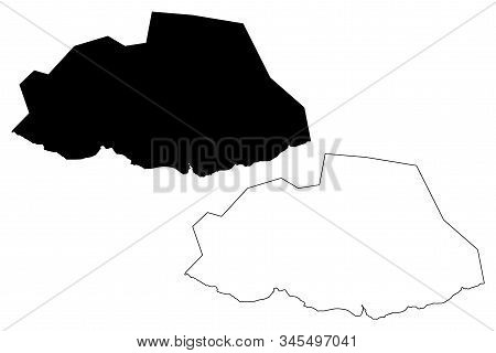 Savanne District (republic Of Mauritius, Island, Districts Of Mauritius) Map Vector Illustration, Sc