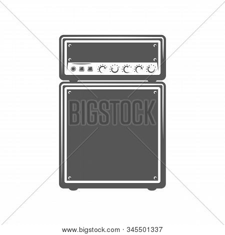 Concert Speaker Isolated On A White Background