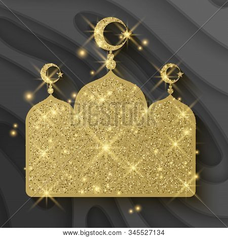 Ramadan Kareem Celebrations. Ramadan Greetings Background Islamic Holy Month Of Prayers. Vector Holi