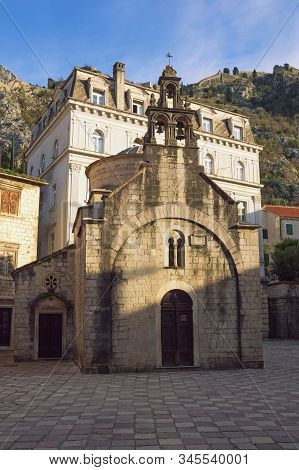 Religious Architecture. Montenegro, Old Town Of Kotor, Unesco-world Heritage Site.  Church Of St Luk