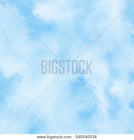 Abstract Blue watercolor brush stroke background. Brushed background illustration. Artistic background