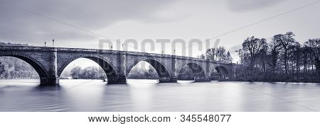 Telford's Famous Bridge Over The Mighty River Tay, Dunkeld, Perth & Kinross, Scotland. Old Vintage B