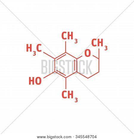 Oxytocin Love Hormone Molecule, Skeletal Formula. Oxytocin Is A Hormone And Neuromodulator That Play