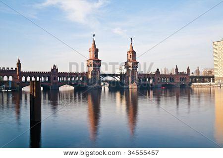 The Oberbaumbrucke Bridge At Berlin, Germany