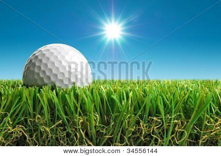 Golf Ball In The Sun