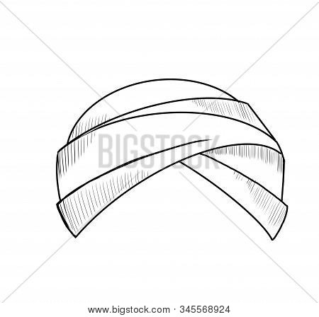 Black And White Illustration Of A Turban.