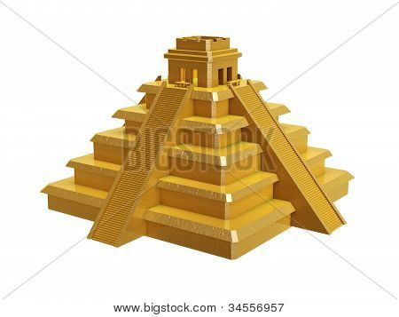 Golden Mayan Pyramid