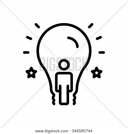 Black Line Icon For Inspiring Embolden Stimulate Promote Encourage