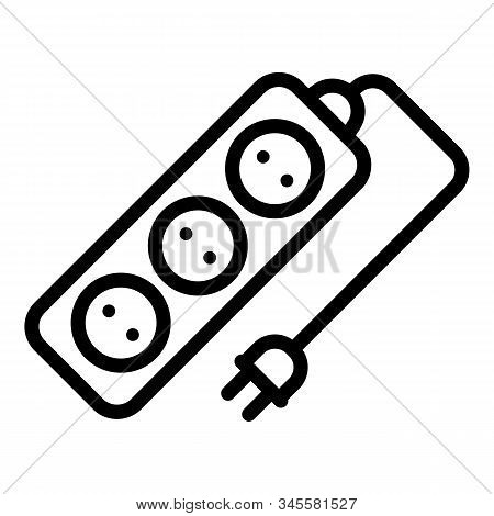 Electric Extension Icon. Outline Electric Extension Vector Icon For Web Design Isolated On White Bac