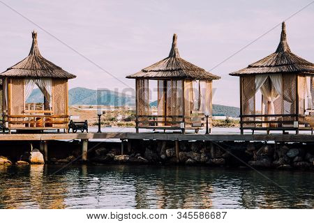 5 Star Hotel In Turkey. Luxury Rest.comfortable Bungalows On Pier By Sea.private Rooms With Sea View
