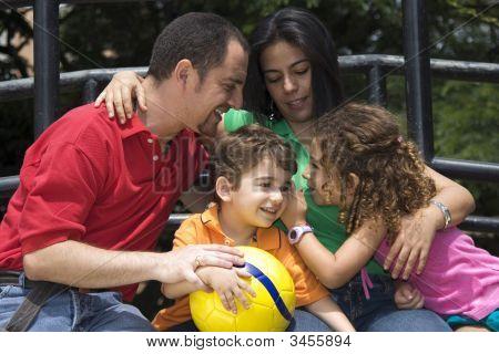 Beautiful Family Enjoying Together