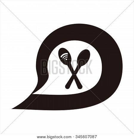 Message Icon, Simple Icon. Signal Vector Icon And Spoon With A White Background. Trendy And Modern I