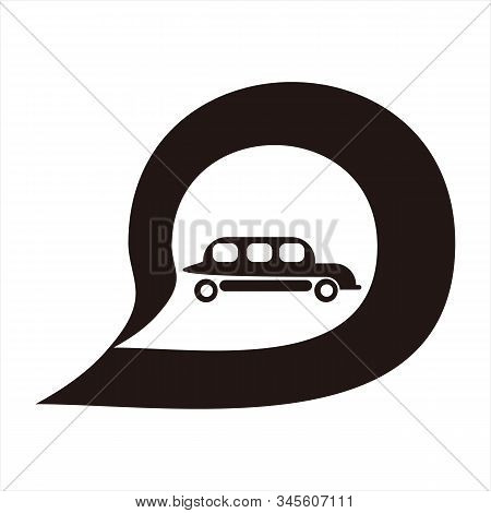Car Message Icon, Isolated Icon With White Background. Message Icon. Car Icon. Trendy Icon. Simple I
