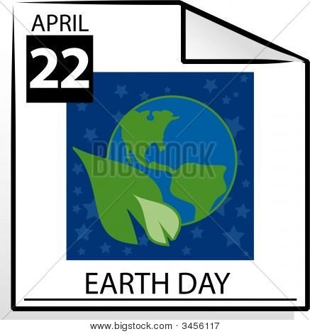 Calendar Page Earth Day