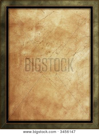Brown & Black Leather Framed Background