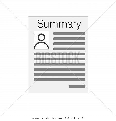 Summary Sign. Summary Square Paper Sign Isolated On White Background. Summary Button. Summary