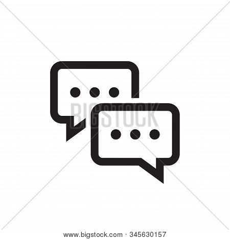 Chat Speech Bubble Icon Design. Message Communicatin Icon Sign. Online Consulting Icon Symbol. Line