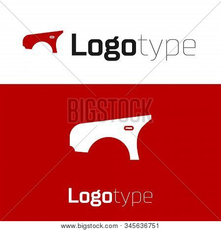 Red Car Fender Icon Isolated On White Background. Logo Design Template Element. Vector Illustration