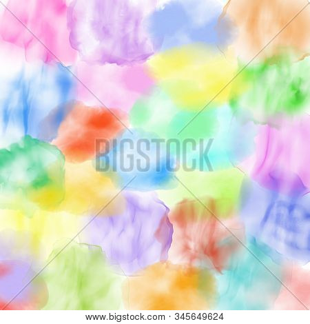 Vibrant Watercolor Background Made Up Of Ink Blotches And Splashes.
