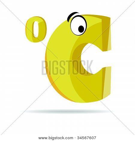 Celsius Sign Vector Illustration