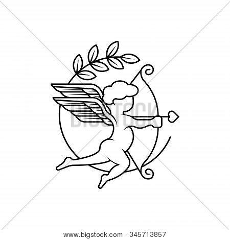 Cupid Icon . Simple Cupid Arrow , Cupid Logo. Love Icon Sign. Cupid Icon Vector, Love Hearts, Cupid
