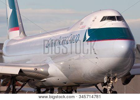 Melbourne, Australia - June 23, 2015: Cathay Pacific Cargo Airways Boeing 747-8 Cargo Aircraft B-ljm