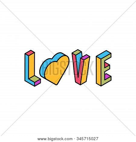 Love Logo Text Vector. Love Lettering Vector For Background, Vector Illustration With Word Love And