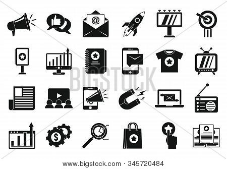 Campaign Icons Set. Simple Set Of Campaign Vector Icons For Web Design On White Background