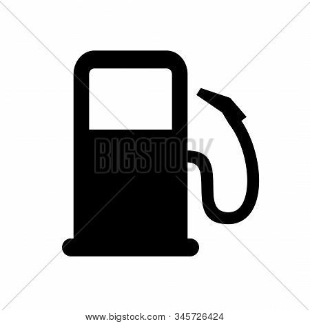 Gas Station Icon Isolated On White Background. Vehicle Refueling Station Sign, Gasoline And Diesel.