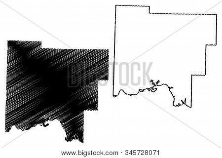 Johnson County, Arkansas (u.s. County, United States Of America,usa, U.s., Us) Map Vector Illustrati