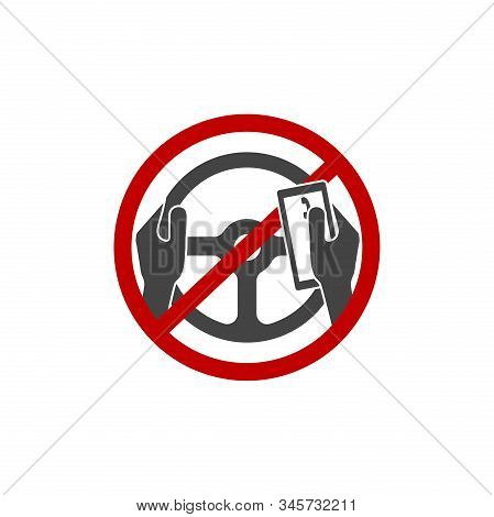 Vector Icon Prohibition Of The Use Of The Phone By The Driver.you Can T Call, Talk About The Phone A