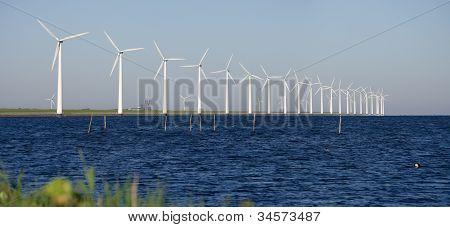 Windmills On A Dutch Dike