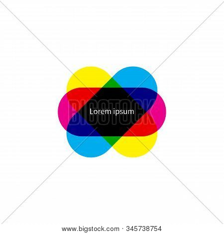 Cmyk Frame, Print House Banner, Multiplay Banner, Cmyk Element, Vector Color Border