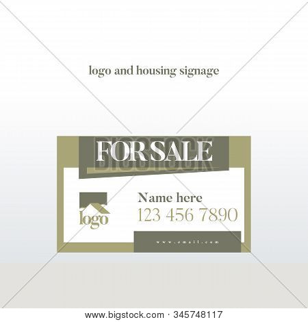 Signage Or For Sale Sign For Housing