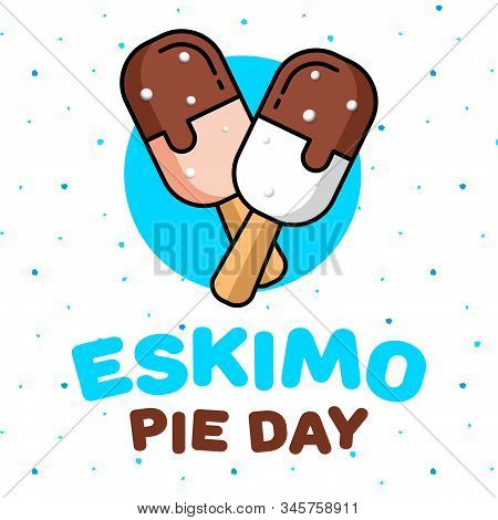 January 24 Is A Sweet Holiday, International Eskimo Pie Day. Square Banner, Flyer, Card. Vector Illu