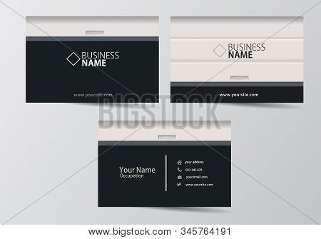 Garage Door Business Card. Visiting Card Template Two Sides